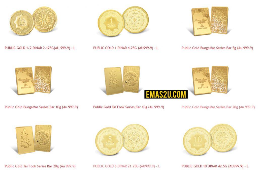 product public gold - beli emas online