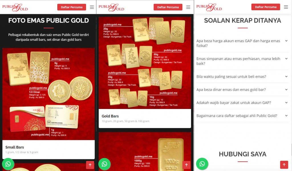 foto emas public gold