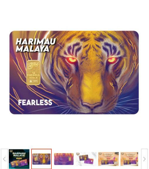 1 gram emas gold 24k harimau malaya design emas rare