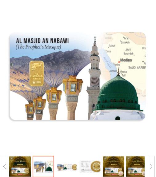 1 gram emas gold 24k masjid nabawi design emas rare