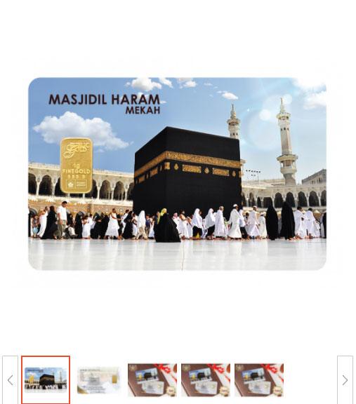 1 gram emas gold 24k masjidil haram mekah design emas rare